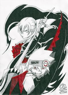 Soul Eater - Maka and Soul by Elrick87.deviantart.com on @deviantART