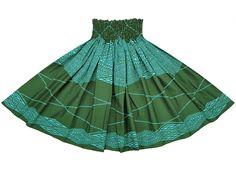 緑のパウスカート カヒコ柄 2235GN-tt - 【パウスカートショップ】 フラダンス衣装の通販 税込3800円