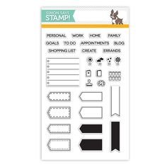 Simon Says Stamp Studio L2E Exclusive Clear Stamps PLAN ON IT sss101499 zoom image