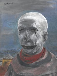 Tired Clown  - Yasuo  - - Expressionism, 1946
