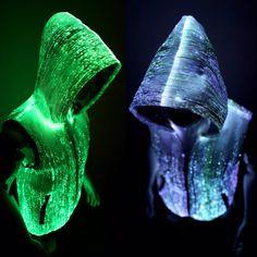 Light up hoodie for men edm clothing burning by YourMindYourWorld