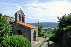 VISIGOTHIC church of Santa Comba de Bande. Near by Aquae Querquennae, an ancient Roman settlement. Galicia - Spain