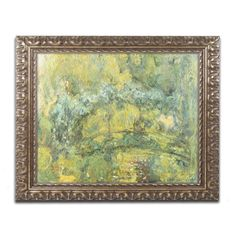 Passage On Waterlily Pond 1919 by Claude Monet Framed Painting Print