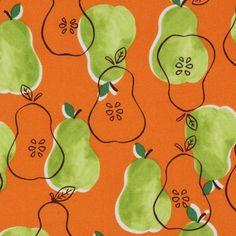 Orange Pears fabric