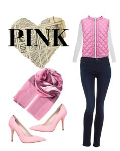 """""""Pink"""" by alphafashion-573 ❤ liked on Polyvore featuring Majestic, Uniqlo, Burberry, Armani Jeans and ALDO"""