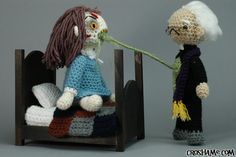 'The Exorcist' Crochet Amigurumi Playset Complete With Green Vomit by Croshame.