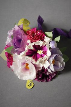 This is meant to be a paper wedding bouquet, but I love it so much... perhaps an arrangement for a vase?