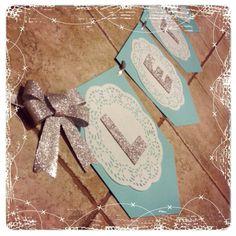 #DIY #Frozen Theme Birthday Banner -Cardstock Paper -Doilies -Glitter Felt