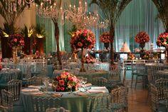 decoração casamento azul tiffany e rosa - Pesquisa Google