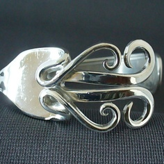 Fork Cuff  Bracelet Made from an Antique Silver by forkwhisperer, $44.99