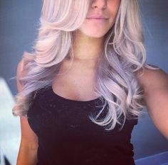 Lavender balayage l Lavender Hair Highlights, Balayage Highlights, Hair Color Purple, Cool Hair Color, Hair Colors, Lauren Conrad, Balayage Hair Brunette Long, Colored Hair Tips, Platinum Blonde Hair