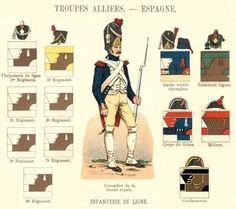 Tropas del Rey Jose en España 1806-08 Infantería, Ingenieros y Milicias.