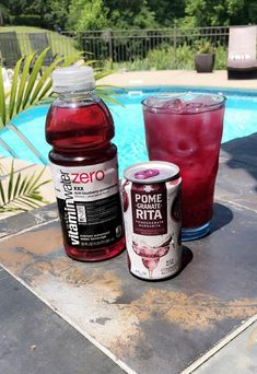 Love this Skinny Poolside drink! Vitamin Water Zero acai-blueberry-pomegranate + Pome-Granate-Rita an affordable and budget friendly drink! Cocktails, Party Drinks, Cocktail Drinks, Fun Drinks, Yummy Drinks, Healthy Drinks, Beverages, Bacardi Drinks, Liquor Drinks