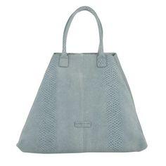 Liebeskind Tasche – Chelsea Snake Shopping Bag Night Blue Light – in blau, grau – Umhängetasche für Damen