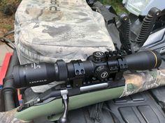 Leupold VX-R-G Patrol 4x12x40 TMR Green Firedot Reticle on Ruger American Predator 243