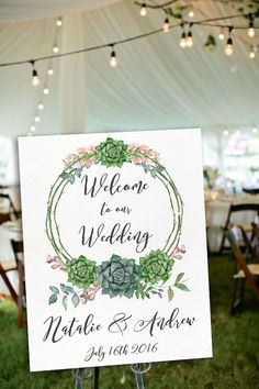 Printable Welcome Sign Wedding Welcome Sign Floral by lipamea