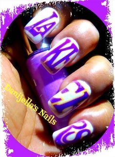1000 Images About Nails Basketball On Pinterest Basketball Nails Los Angeles Lakers And