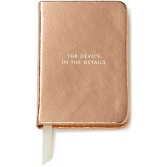 """kate spade new york """"Devil in the Details"""" Mini Notebook (€17) ❤ liked on Polyvore featuring home, home decor, stationery и metallic"""