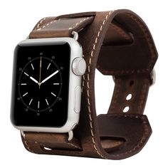 Burkley Cuff Genuine Leather Band for Apple Watch 38mm in Antique Coffee by BurkleyCases on Etsy https://www.etsy.com/listing/259187433/burkley-cuff-genuine-leather-band-for