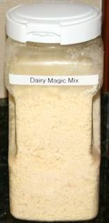 Magic Mix      4 cups instant powdered milk (2 1/2 cups non -instant powdered milk)  1 cup flour  1 cup margarine or butter    combine all ingredients in a large bowl and mix until it looks like cornmeal.  Cover tightly and store in refrigerator.  Makes 5 cups of Magic Mix.    Here's a few recipes to get you started with your Magic Mix: