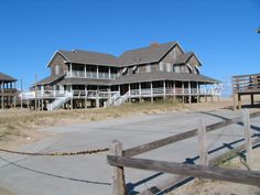 """Nags Head Historic District, home of the """"Unpainted Aristocracy"""" the first resort homes on The Beach here..they date back to the late 19th century"""