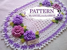 Pattern Crochet doily lacy Oval table Floral doily book pdf Rug with flower Table centerpiece Textured modern crochet tutorial How to Do Round Table Centerpieces, Holiday Centerpieces, Table Decorations, Crochet Doilies, Crochet Flowers, Hand Crochet, Colorful Christmas Tree, Modern Crochet, Table Flowers