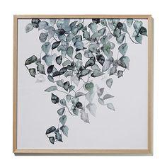 Watercolour Foliage Print Hanging Pot