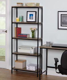 5-Tier Sturdy Metal Frame Industrial Bookshelf Bookcase Shelving Storage New #Bookshelf