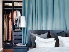 Separate your bed space from your closet space with our turquoise SANELA curtain. Is the Turquoise trend your favourite?