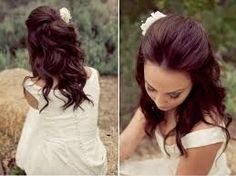 Image result for half up half down hairstyles for shoulder length hair