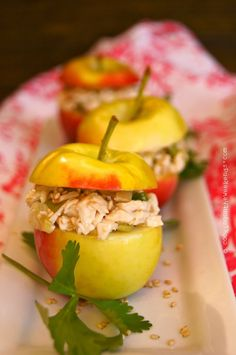 A perfect fall first course, lunch or snack, this Crimson Gold Apple Sesame Chicken Salad recipe is scrumptious and oh-so-pretty. Sesame Chicken Salad Recipe, Chicken Salad With Apples, Yummy Chicken Recipes, Yum Yum Chicken, Top Recipes, Apple Recipes, Fall Recipes, Gourmet Recipes, Cooking Recipes