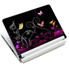 Meffort Inc 15 Inch Laptop Notebook Skin Sticker Cover Art Decal (Included 2 Wrist pad) - Mini Butterflies Acer Computers, Laptop Computers, Laptop Decal, Laptop Stickers, Tech Toys, Computer Case, Notebook Laptop, Laptop Skin, Computer Accessories