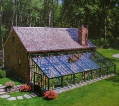 A greenhouse attached to the house, how cool is that!, A greenhouse attached to the house, how cool is that! Whilst historic around idea, a pergola have been having a contemporary rebirth these types of days. A trendy out-of-doors refuge. Greenhouse Farming, Home Greenhouse, Greenhouse Ideas, Greenhouse Wedding, Greenhouse Attached To House, Cheap Greenhouse, Underground Greenhouse, Small Garden Greenhouse, Greenhouse Kitchen