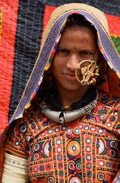 India   Maldhari Woman with Embroidered Jacket. Kutch   © Tiziana and Gianni Baldizzone