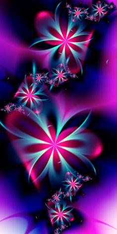 sonstige Bilder Girly Fraktal Improving Our Landscape Images. Beautiful Flowers Wallpapers, Beautiful Nature Wallpaper, Pretty Wallpapers, Butterfly Wallpaper, Colorful Wallpaper, Wallpaper Backgrounds, Fractal Design, Fractal Art, Cellphone Wallpaper