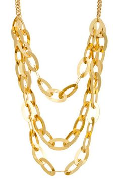 Multi-Layer Chain Necklace and Earring Set in Rose or Yellow Gold – NanoNano