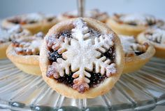 Mmm...mince pies topped with marzipan! Love Christmas baking :-)