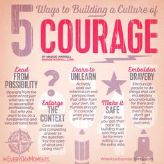 Culture Of Courage: Creating A Culture That Breeds Bravery | Leading w/ courage starts w/ ur commitment 2 dare bravely, speak bravely & lead bravely -Margie Warrell #leadership
