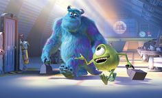 Monsters need screams to power their city, but are themselves scared of a 2-year old little girl. (C) 2001 Pixar