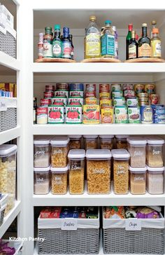 Small Pantry Organization, Kitchen Cabinet Organization, Pantry Storage, Kitchen Storage, Kitchen Cabinets, Organization Ideas, Pantry Ideas, Cabinet Ideas, Organized Pantry