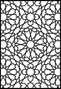alhambra designs coloring pages - Google Search