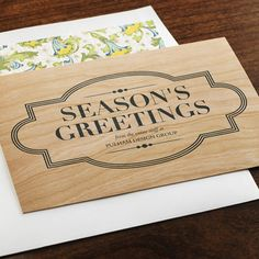 Maple MarqueeeInviteBusinessHoliday Cards. #wood #rustic #woodcards