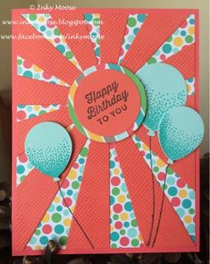 Celebrating with Stampin' Up!'s 'Balloon Celebration' bundle...  #imbringingbirthdaysback