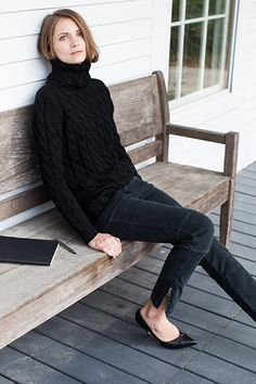 Big Knit Sweater - Black | Emerson Fry