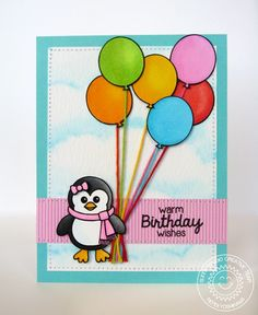 Sunny+Studio+Balloon+Birthday+Card+by+Mendi+Yoshikawa - Scrapbook.com