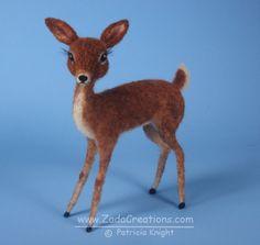 Needle Felted Vintage Style Deer by ZadaCreations.deviantart.com on @DeviantArt