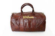 Vintage Near Mint Wilson Duffle Gym Bag Large by alchemievintage, $96.00