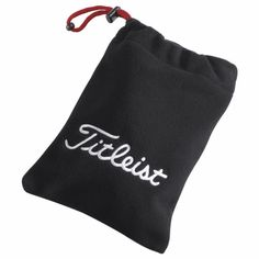 """Titleist Fleece Golf Valuables Pouch  Item# 62410 Keep your golf valuables protected! Drawstring closure. Large Titleist® branding. Embroidery Back 3""""w x 3""""h 5 color(s) included 5 color(s) max. www.imprintgolf.com 401-841-5646"""