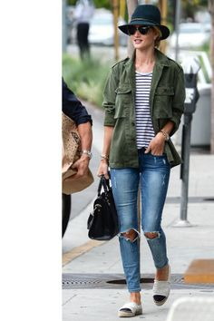 129 inspiring celebrity denim looks: Rosie Huntington-Whiteley.