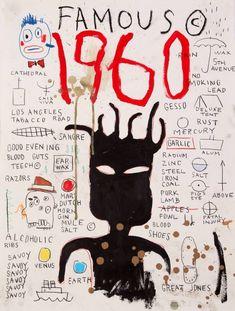 & 1960 Famous& Poster by bettypure is part of Jean michel basquiat art Buy & 1960 Famous& by bettypure as a TShirt, Classic TShirt, Triblend TShirt, Lightweight Hoodie, Fitted Scoop - Jean Basquiat, Jean Michel Basquiat Art, Andy Warhol, Basquiat Paintings, Pop Art, Graffiti, Robert Rauschenberg, Art Brut, Art Graphique